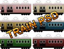 Simple 6 train icons PSD by mr-hachidaime