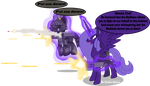 Lacunae going all out by Vector-Brony