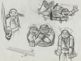 TMNT random sketches by Angi-Shy