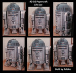 R2-D2 Life size papercraft by Adisko