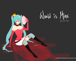A little vocaloid Wallpaper by TheMadHattersMistres