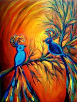 blue birds by Ican1000