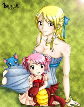 Lucy and Nashi by Ishthak