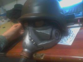 Helghast Mask V - Perspective View by BioCloneX