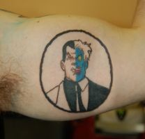 two face tattoo by yayzus