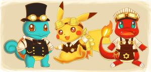 Steampunk Pokemon by dreamwatcher7