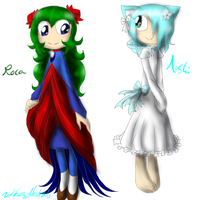 Roca and Aishi redesigns by HezuNeutral