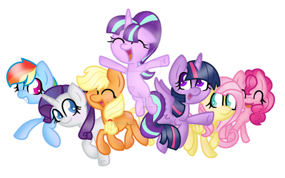 MLP-Friends will always there for you(ChibiVector) by SnowflakeWonder