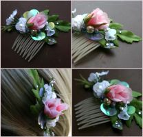 Rosebud Petite Pixie Hair Comb by TheRealLittleMermaid