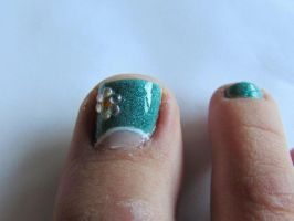 Spring Toe Nail Art by QueenAliceOfAwesome