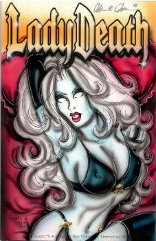 Lady Death Comic Cover Painting by BiancaThompson