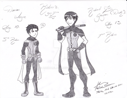 Dick and Damian YJ Style by ArkhamLady
