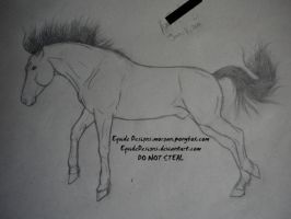 Another Horse Sketch by EquideDesigns