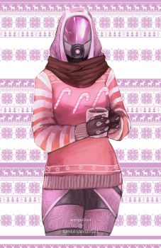 ME Christmas Sweaters - Tali by Weissidian