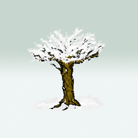 tree with snow by cinfa