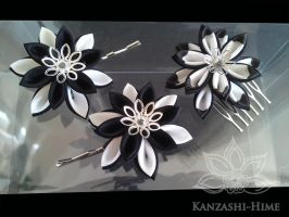 Black and White Kanzashi by Kanzashi-Hime