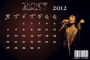 Freddie Mercury Calendar - August 2012 by Mary-Aisha