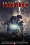 Iron Man 3 (Fan Made) Movie Poster v7 by DiamondDesignHD