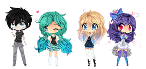 Chibis by Purrinee