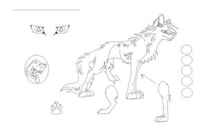 Free Wolf Lineart 24 by Wolfieluv6