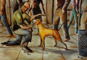 the bum and the dog by Olkham