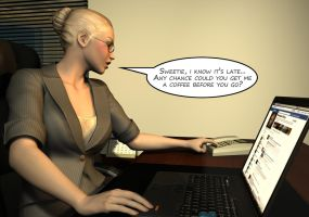 Penelope - Working Late 9 by Torqual3D