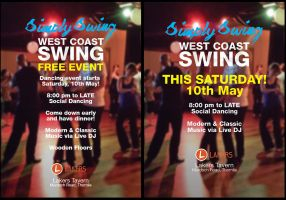 Simply Swing West Coast Swing Dance Event Flyer by resresres