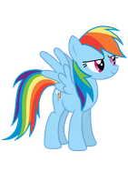 Rainbow Dash Vector by Pilot231