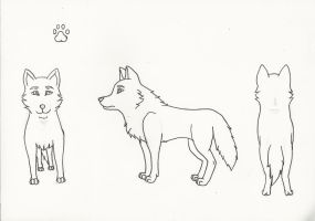 Free Ref Sheet Lineart by LuckyWolf27