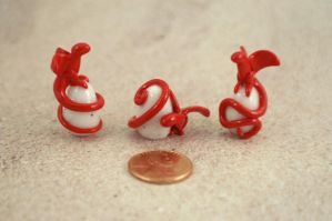 Red Baby Dragons on Egg by Scaylen