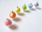 Pastel Spotted Rainbow Mushroom Charms by MariposaMiniatures