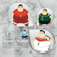 CHUNKY SOCCER PLAYERS  PNG Pack #1 by LoveEm08