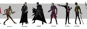 Batman Villains by bubbagump8