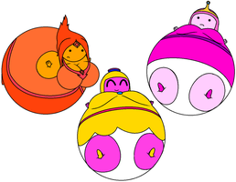 CM: The Three Princess Balloons by Ambipucca