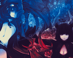 Black Rock Shooter - Black Gold Saw Wallpaper by Raykorn