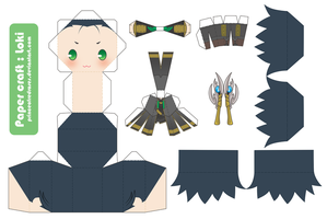 :Loki: PaperCraft by PrinceOfRedroses