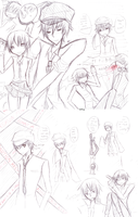 P4_SPOILER Naoto sketches by djchungy