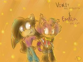 Request Violet and Ember by RhythmAx