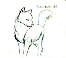 DS October 31 - Wolf by modestmonster