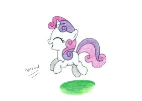 Jumping Sweetie Belle by UlyssesGrant