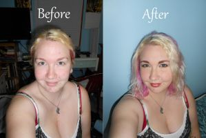 Before and After - Makeup by foxkat