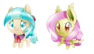 Chibi Coco  and Flutterbat by PegaSisters82