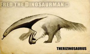 Therizinosaur Theory #1 : Therizinosaurus Anteater by FredtheDinosaurman