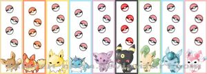 Eeveelutions bookmarks by talaren-chan