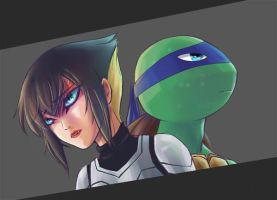Leo and Karai by ice-mei