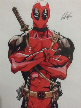 Starting the year with Deadpool drawing by ArNerMan