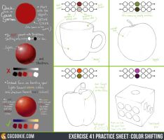 Exercise 41 Practice Sheet: Color Shifting by CGCookie