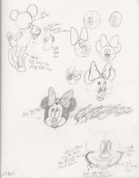 Learning how to draw Minnie Mouse by rgalexandervision