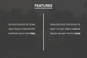 ColorWash Retro Photoshop Actions Features by filtergrade