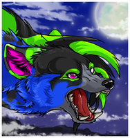 Lunarwolf icon by nightspiritwing